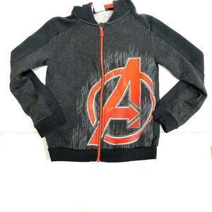 Adidas 'Marvel Avengers' Grey Full Zip Hoodie